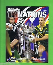 #GG.  2005   RUGBY LEAGUE TRI NATIONS  PROGRAM - AUSTRALIA V NEW ZEALAND