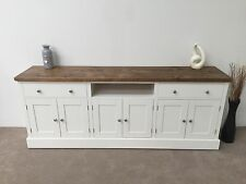 7ft New Solid Pine Painted Dresser Base / TV Unit Plank Top