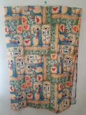 Laural Home Winter Wonders Snowman Birds Hearts Polyester Tablecloth 82X60