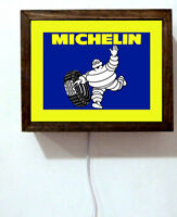 Michelin Man Tires Store Repair Service Auto Retro Vintage Light Lighted Sign