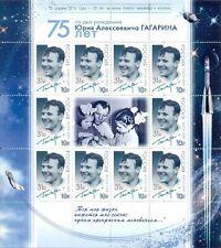 Russia rusia 2016 klb 2301 55 años primero du vuelo J. gagarin espacio Space mnh