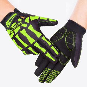 Qepae Full Finger Cycling Gloves Men's Women's Padded Bike Cycle MTB Gloves