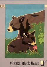 BLACK BEAR CABIN LAKE MOUNTAIN CUB APPLIQUE MINI WINDOW GARDEN YARD FLAG NEW