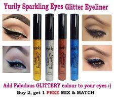 Yurily Sparkling Eyes Glitter Liquid Dip Eyeliner Blue, Gold, Silver Eye Liner