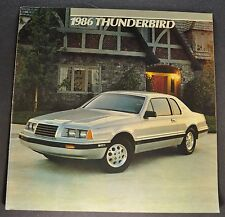 1986 Ford Thunderbird Brochure elan Turbo Coupe Excellent Orig T-bird Canadian