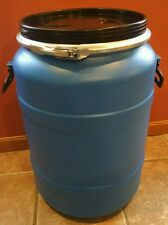 18 Gallon Plastic Food Grade Storage Barrel Drum Used Once.