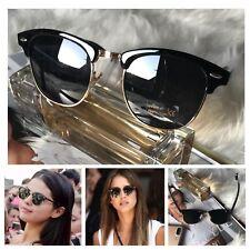 AYZA Classic Wayfarer Retro Sonnenbrille Damen Schwarzgold Schutztasche