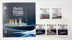 Gibraltar Titanic Centenary 1912-2012 Postal Stamps Presentation Pack 689C