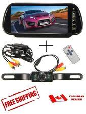 "New 7"" Rear View Mirror + Wireless IR Camera Back Up System Universal Car SUV"