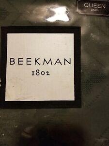 NEW! BEEKMAN 1802 Fulton Queen Pillow Sham Pepper 20 X 30 Inches