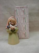 Vintage Anri Italy Hand Carved Girl With Dove Signed J. Ferrandiz! Orig. Box