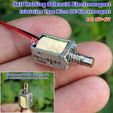 Micro Mini Push Pull Solenoid DC5V 6V Electromagnet Self Holding Electric Magnet