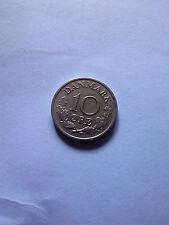 10 ore Denmark 1972 coin Danmark free shipping