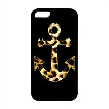 for IPHONE Black Cover Case Anchor LEOPARD PRINT cheetah tiger zebra cat