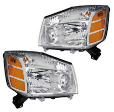 Headlights Front Lamps Pair Set for 04-07 Nissan Armada/Titan Left & Right