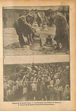 The Bells Warsaw Cloches Varsovie Soldats Soldiers Poland WWI 1915 ILLUSTRATION