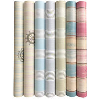 Modern Embossed Striped Wallpaper Roll Textured Stripes Self Adhesive Wall Cloth