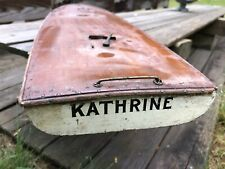 Very Old Scow Pond Yacht/Pond Boat/Toy Boat Hull
