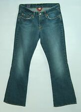LUCKY BRAND Short Inseam FLARE Hip to Knee Fade Zip Fly SWEET N LOW Jeans! 4/27