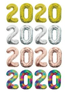 Grad 2020 Balloons Mylar Foil Number 34 inch Balloon (For Helium Or Air Tank)
