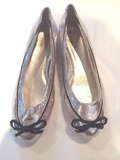 Pour La Victoire Juliette ballet shoes women's Snake Silver 6 New