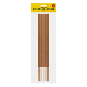 10 Citronella INSCENCE STICKS Mosquito Fly Insect Repeller For Home Outdoor 9cm