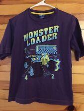 *NAARTJIE* Boys Purple Monster Loader Tee Shirt Size 10