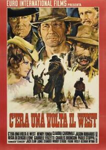 POSTER C'ERA UNA VOLTA IL WEST SERGIO LEONE LOCANDINA WESTERN FILM CINEMA #4