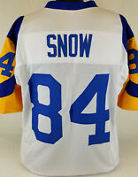 Jack Snow Unsigned Custom Sewn White/Yellow Football Jersey Size - L, XL, 2XL