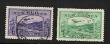 1935 New Guinea £2 & £5 Bulolo Stamps SG 204/5 Fine Used