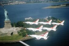 USAF THUNDERBIRDS NYC STATUE OF LIBERTY 8x12 SILVER HALIDE PHOTO PRINT