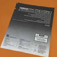 Yamaha RX-750 RX-550 Original Printed Instruction Manual 912G
