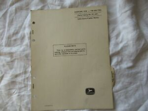 1967 John Deere TW TWA disk harrows parts catalog manual