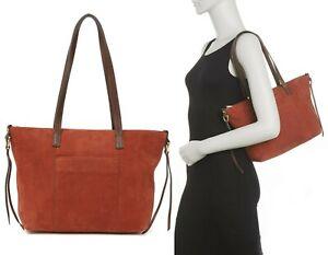 HOBO Cecily Women's Leather Shoulder Bag Satchel Handbag Purse in Cinnabar