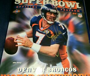 John Elway Signed Super Bowl XXXII Champions Book Program LE W/COA Fox Asst Inc