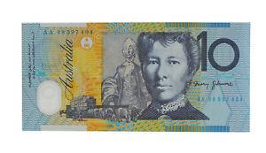 1998 Macfarlane/Evans $10 Ten Dollar AA First Prefix Note - UNC, R.318cF D5-620