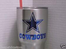 Dallas Cowboys Chrome Decal Sticker, Yeti,Tumbler,Rambler,Beer Mug,Car,Truck