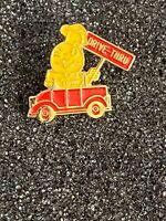 Vintage McDonald's Drive Thru  Enamel Lapel Pin