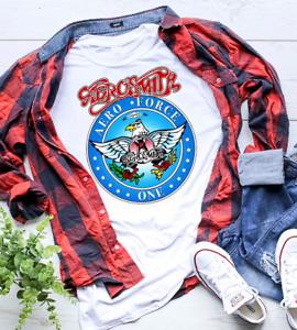 Wayne's World Garth Aerosmith T-shirt Halloween Costume White Shirt Adult