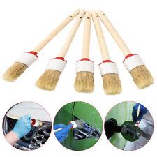UK 5X Car Detailing Brushes Cleaning Dash Trim Seats Wheels Corner Wood Handle