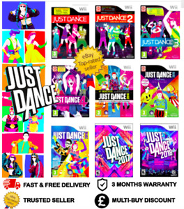 JUST DANCE - NINTENDO WII BUNDLE 2 3 4 2018 2014 2017 2015 - ALL TITLES LISTED !