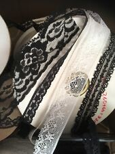 Clearance Random 1000 Yards Lot  Lace Black White Narrow Lace Craft Doll Trim