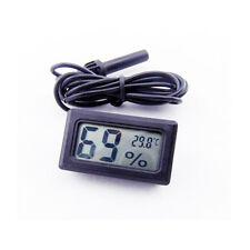Black LCD Digital Thermometer Hygrometer Probe for Aquarium Poultry Reptile