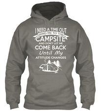 Camping Gildan Hoodie Sweatshirt