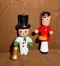 Lot of 2 Wooden Christmas Holiday Ornaments (Soldiers) - Very Good
