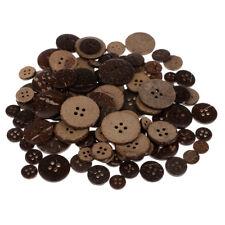 Set di 100 bottoni in legno bottoni cocco bottoni 4 fori bottoni cuciti