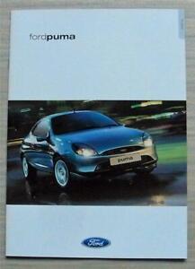 FORD PUMA Car Sales Brochure Nov 2001 #FA1271/11