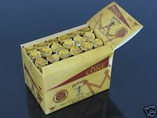 24 Pack 144 CONE 1 1/4 Size UNREFINED HEMP Rolling Paper Pre Rolled Cones #760