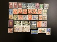 PHILIPPINES STAMPS HAND - OVERPRINT OVPT - SURCHARGED - LOT Of 38 USED CANCELED
