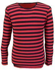 Rétro Hommes Mod 60s Indie Rouge et Noir Coton T-Shirt